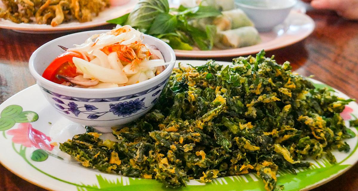 Ayutthaya Fried Pak waan Spicy Salad with shrimp