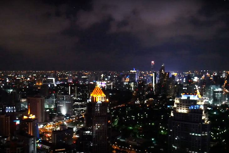Panoramic views of Bangkok's cityscape