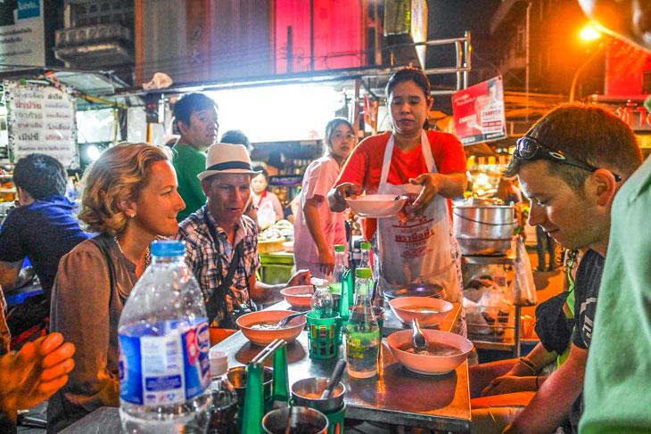 Chinatown Street Food at Bangkok Night