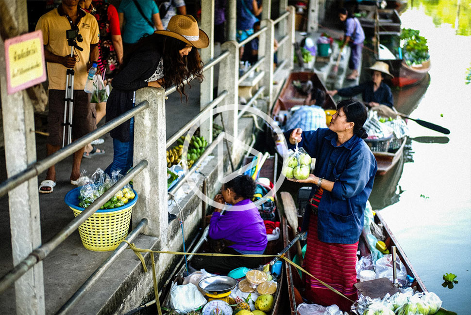 Thailand Floating Market Food Tour Promotional Video
