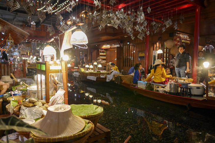 Indoor floating market, Bangkok