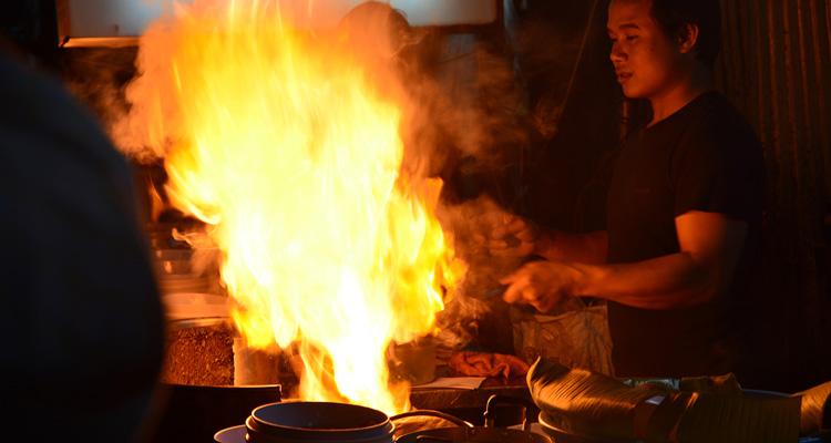 Fiery Kua Kai Stir-frying