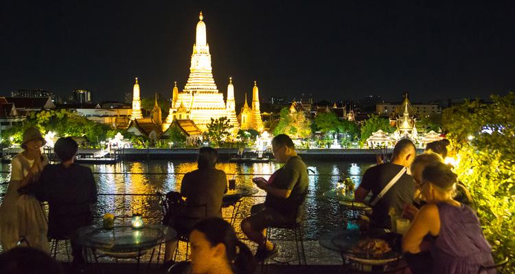 Bangkok Riverside at night
