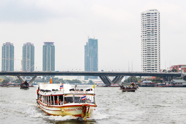 Cruising over Chaophaya river, Bangkok