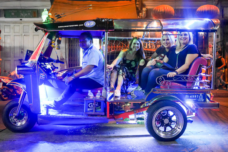 Night Tuk tuk ride in Bangkok