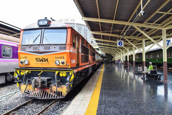 Train ride at Bangkok Railway Station