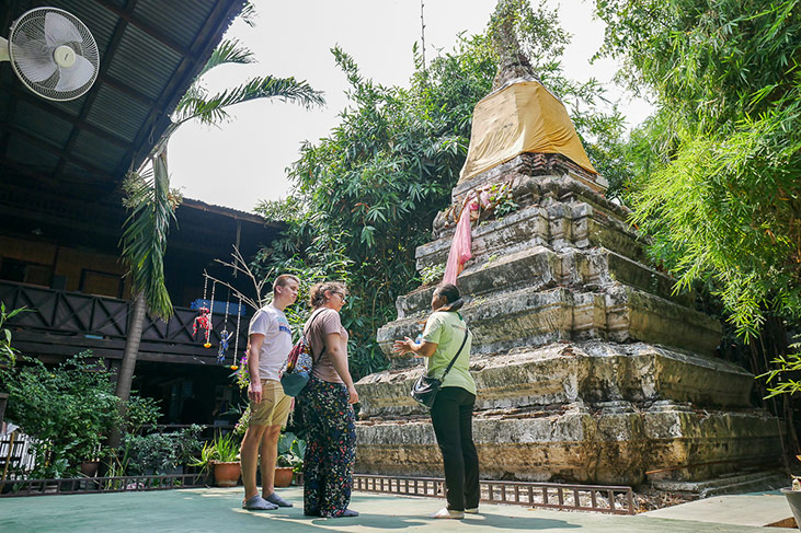 Ancient pagoda in Thonburi, Bangkok