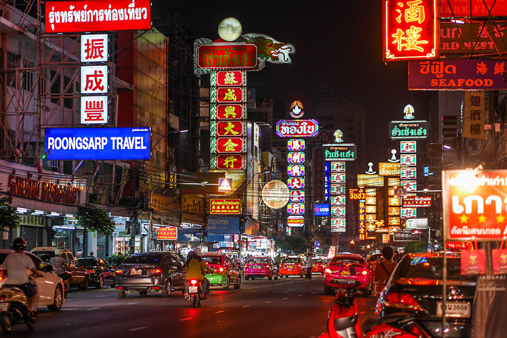 The Bangkok Chinatown night life