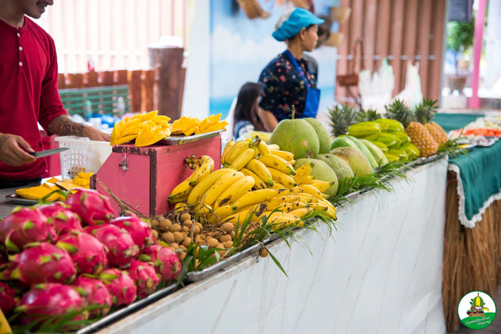 Various selection of tropical fruit in Thailand