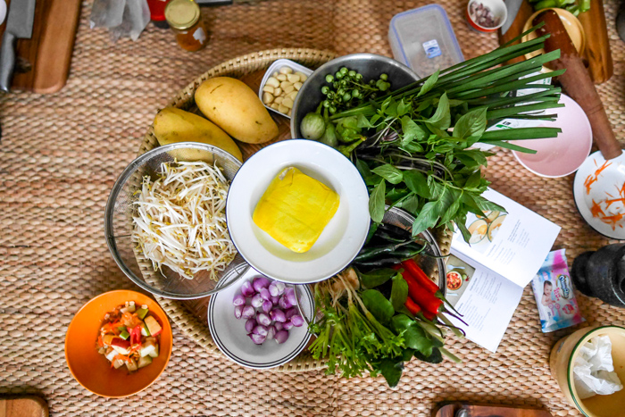 Ingredients in a Thai cooking class | Things to do in Bangkok | Bangkok Food Tours