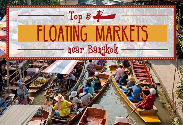 Horizontal poster | Floating Markets | Bangkok Food Tours