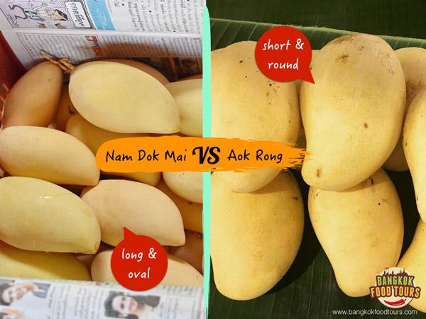 Types of Thai mangoes