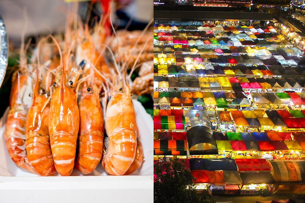 Talad Rodfai Ratchada | night food markets in Bangkok | Bangkok Food Tours