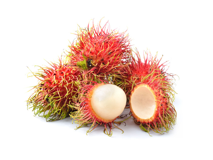 Exotic Thai Fruit #8 - Rambutan (ngo)