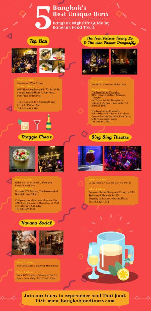 Info graphic | Exotic Bars in Bangkok | Bangkok Food Tours