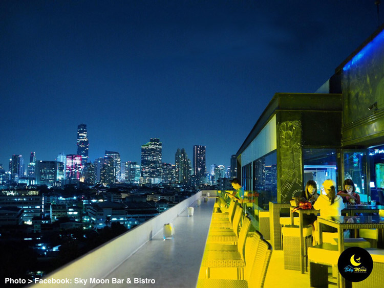 Bangkok's Alternative Rooftop Bar #6 - Sky Moon Bar & Bistro