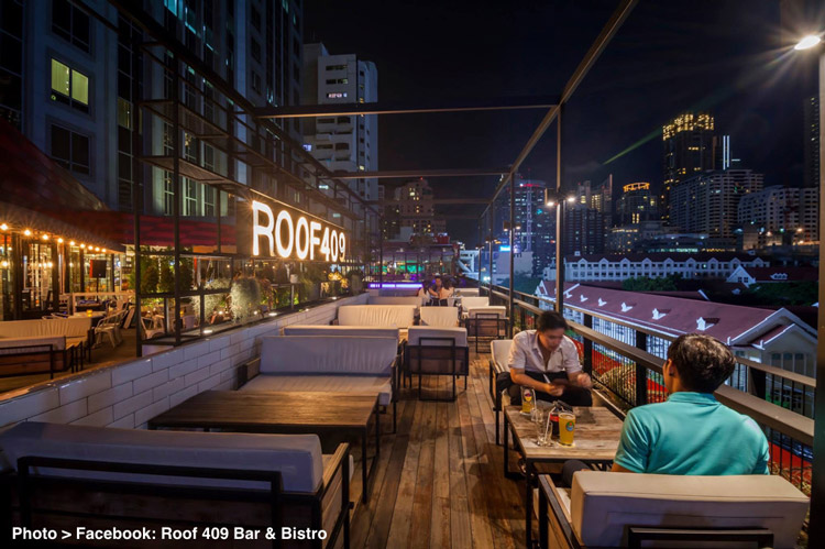 Bangkok's Alternative Rooftop Bar #7 - Roof 409 Bar & Bistro