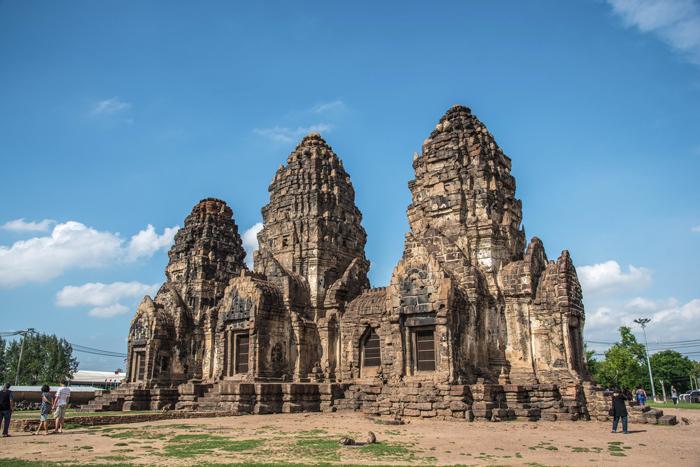 Phra Prang Sam Yod, an ancient Khmer ruin in Lopburi, Thailand   train trips from Bangkok   Bangkok Food Tours