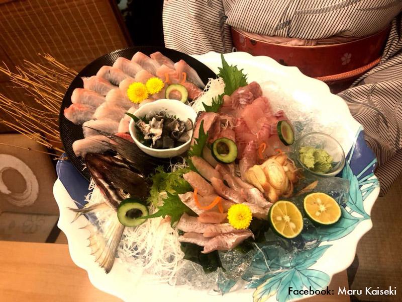 Sashimi at Maru Kaiseki - Bangkok Food Tours