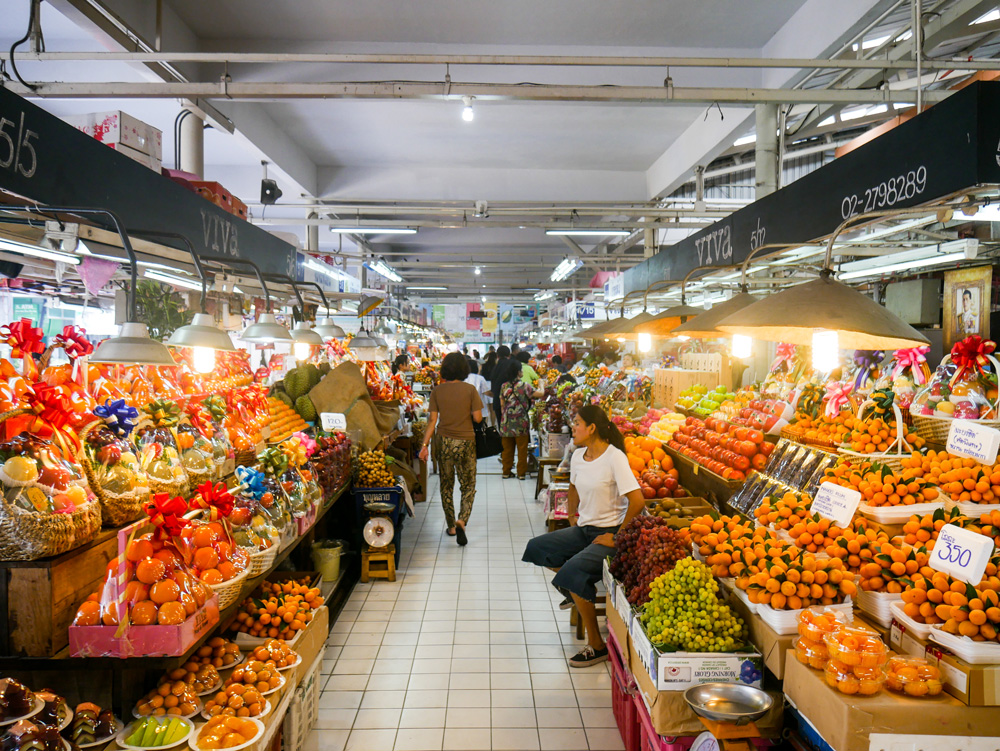 Or Tor Kor Market atmosphere | Bangkok fresh markets | Bangkok Food Tours