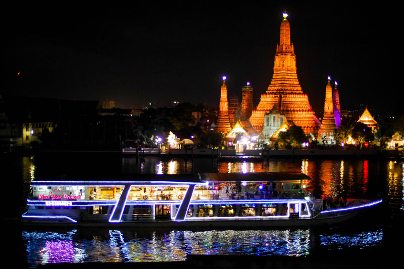 Beautiful Chao Phraya river view which can be seen on the tour