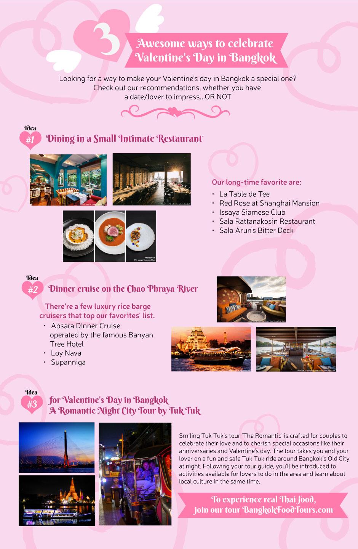 Infographic | Valentine's Day in Bangkok | Bangkok Food Tours