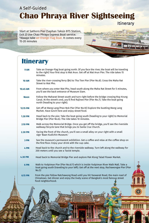 Info graphic | Chao Phraya River Sightseeing | Bangkok Food Tours