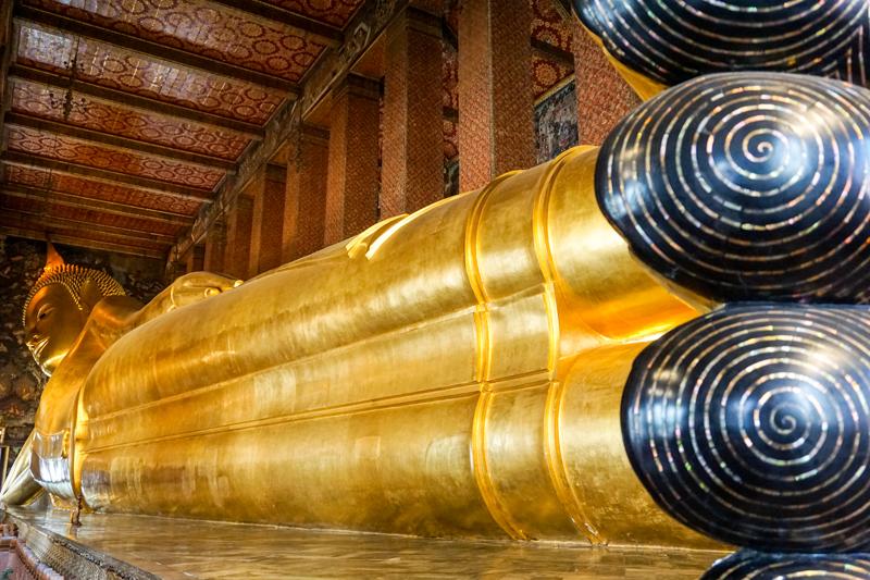 Reclining Buddha Wat Pho | Chao Phraya River Sightseeing | Bangkok Food Tours