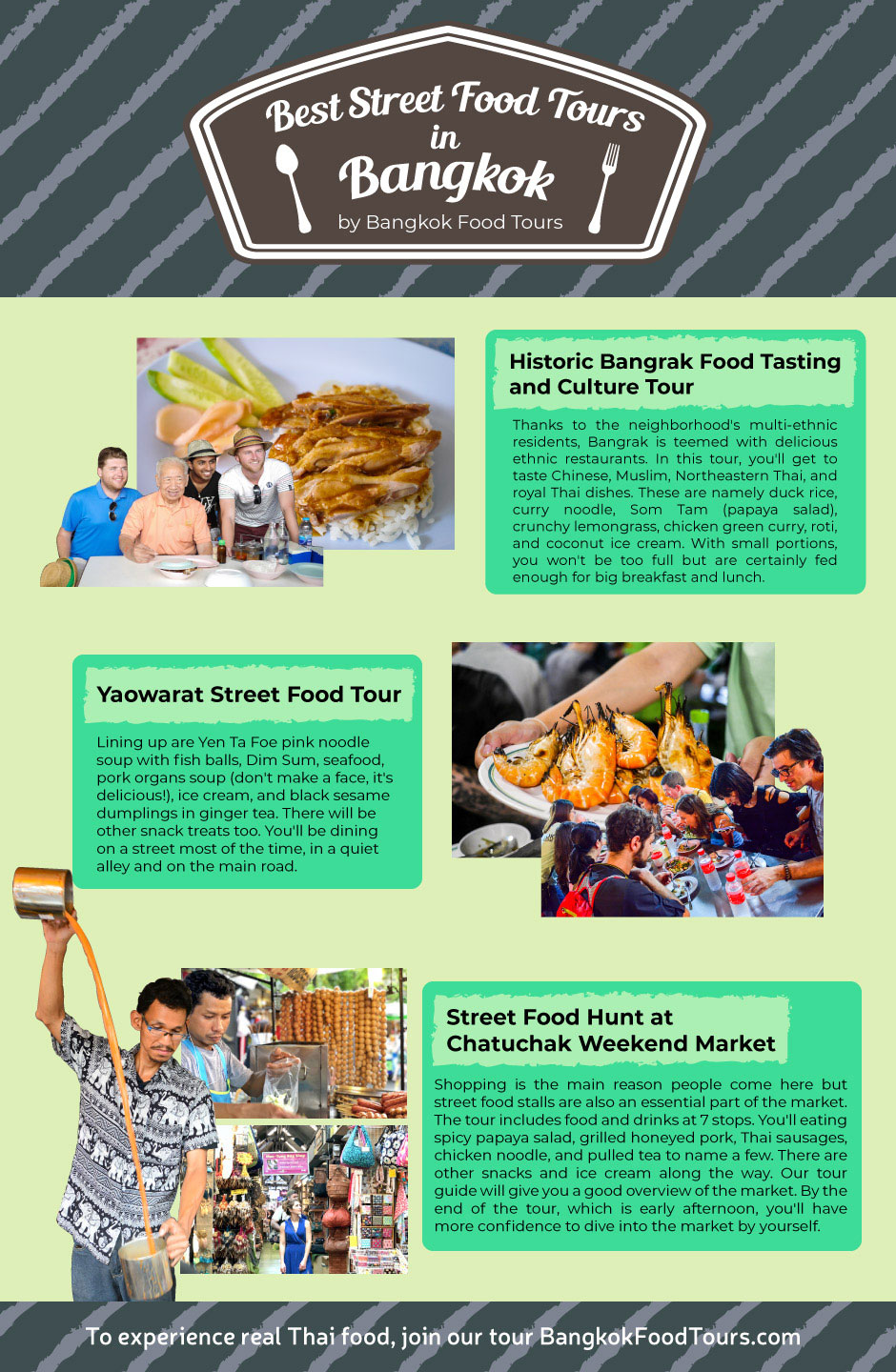Info Graphic | Street food tour in Bangkok | Bangkok Food Tours