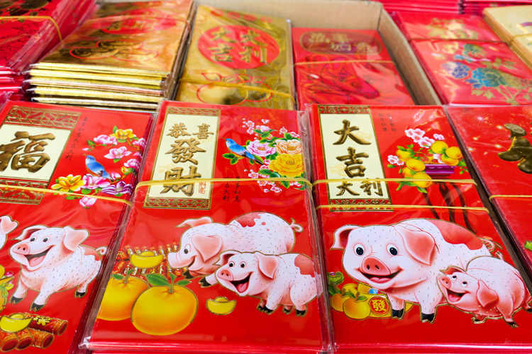 Ang pao envelopes | Chinese New Year in Bangkok | Bangkok Food Tours