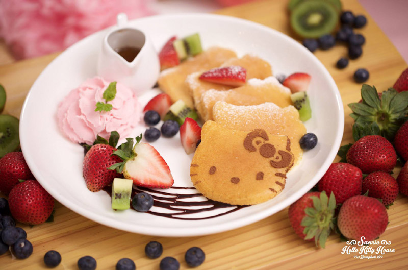 Hello Kitty House Bangkok Fruity Pancakes | Instagramable cafes in Bangkok | Bangkok Food Tours.jpg