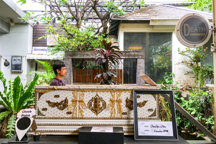 Kid Mai Death Awareness Cafe_coffin | Instagramable cafes in Bangkok | Bangkok Food Tours