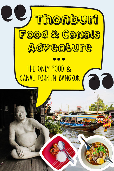 Vertical poster | Canal tour in Bangkok | Bangkok Food Tours