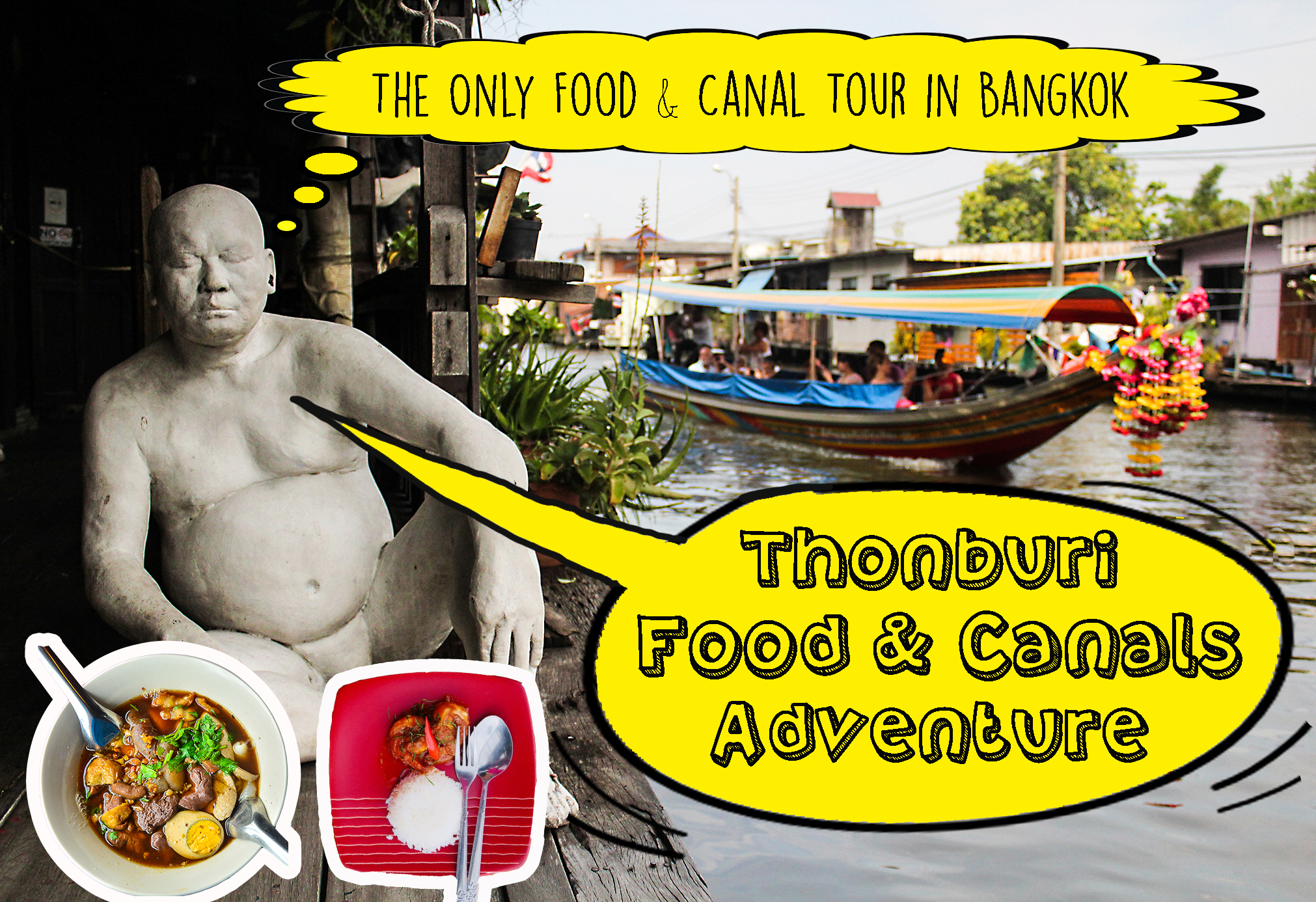 Horizontal poster | Canal tour in Bangkok | Bangkok Food Tours