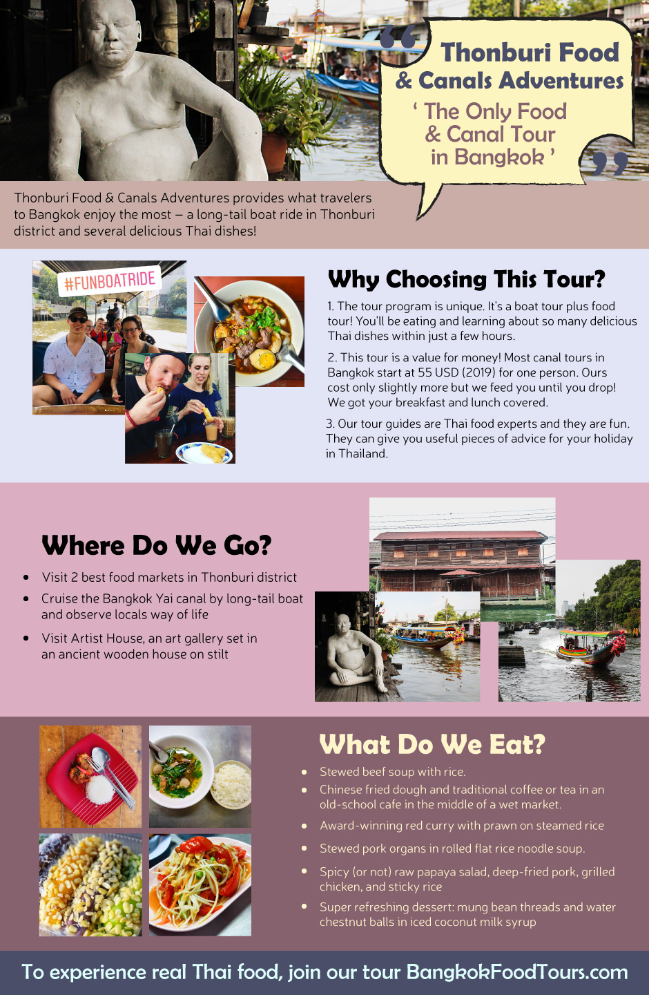 Infographic | Canal tour in Bangkok | Bangkok Food Tours